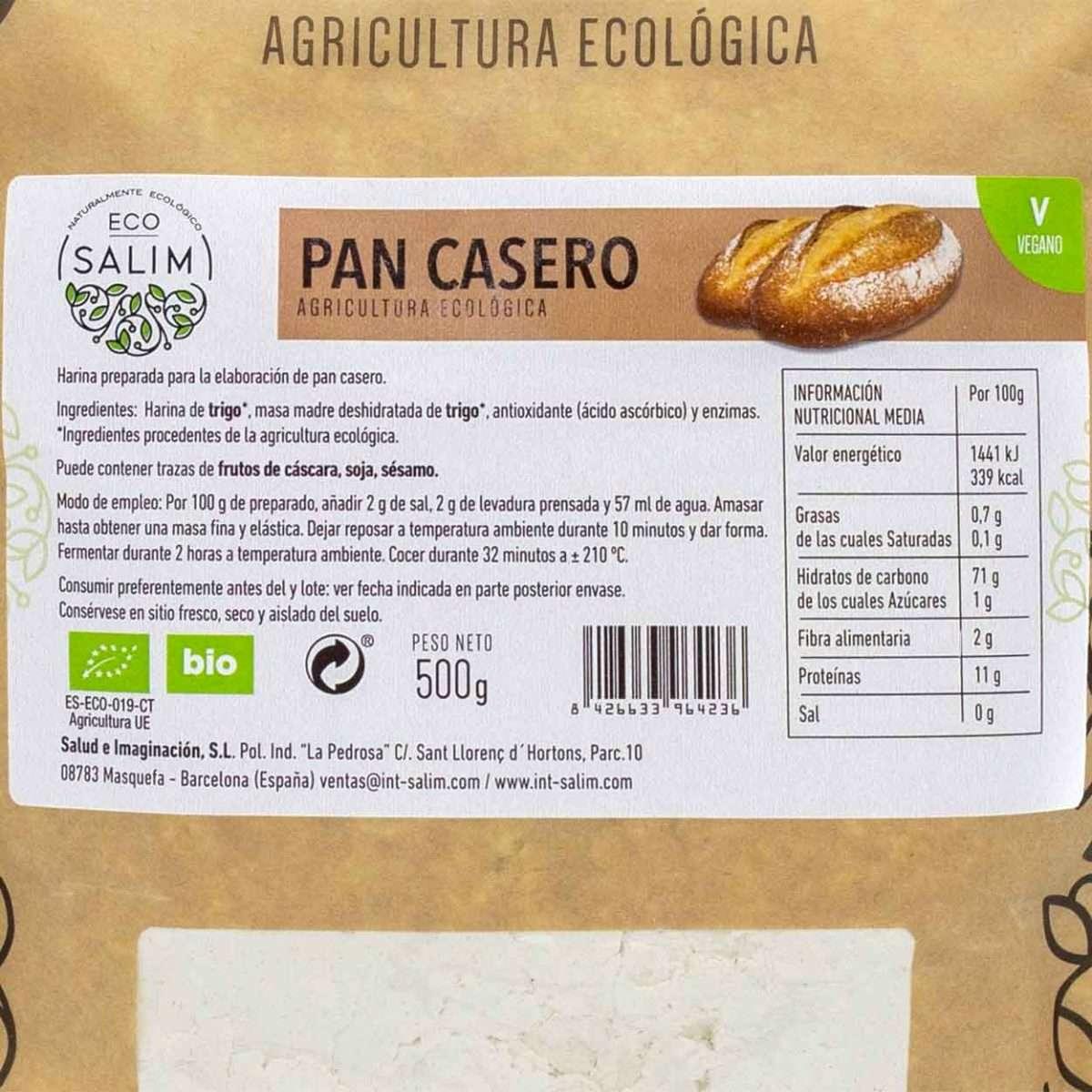 Harina Pan Casero Ecológico Eco Salim 500gr