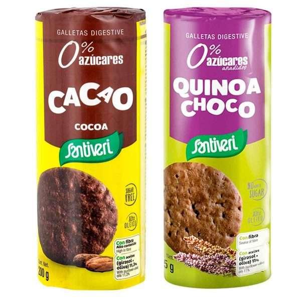 Pack Galletas Digestive Cacao y Quinoa Santiveri 375g