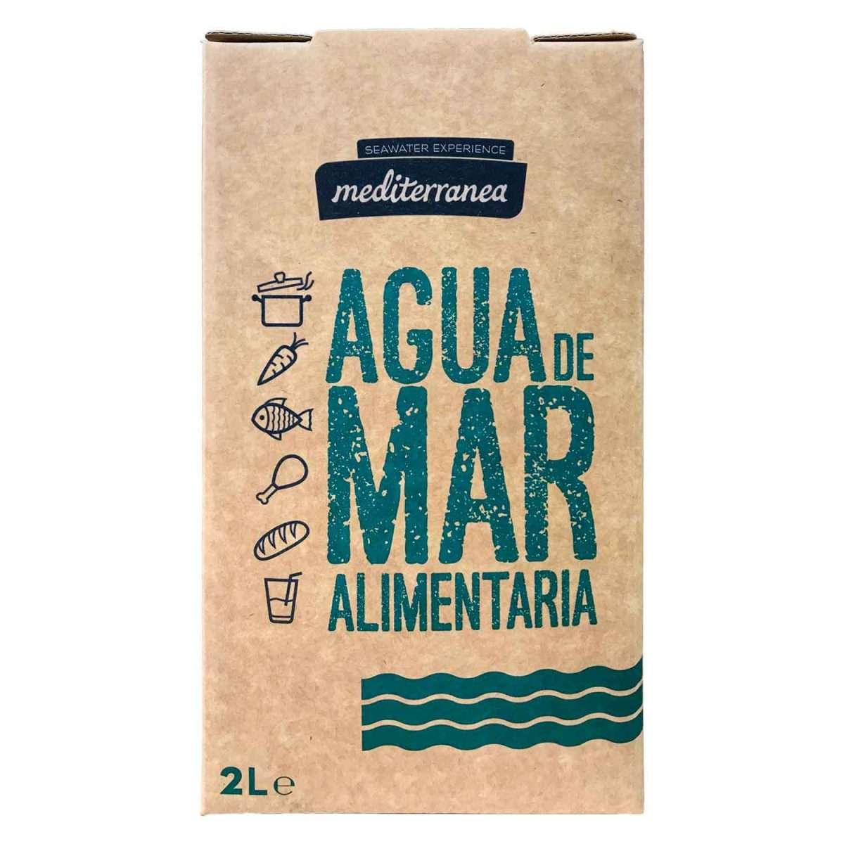 Agua de Mar Alimentaria Mediterranea 2L