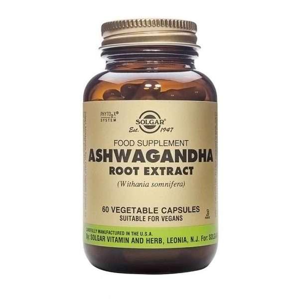 Ashwagandha Extracto de Raíz Solgar 60 caps