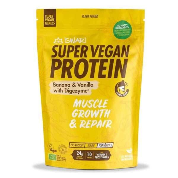 Super Vegan Protein Plátano y Vainilla Iswari 350g
