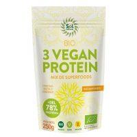 3 Vegan Protein Bio Sol Natural 250gr